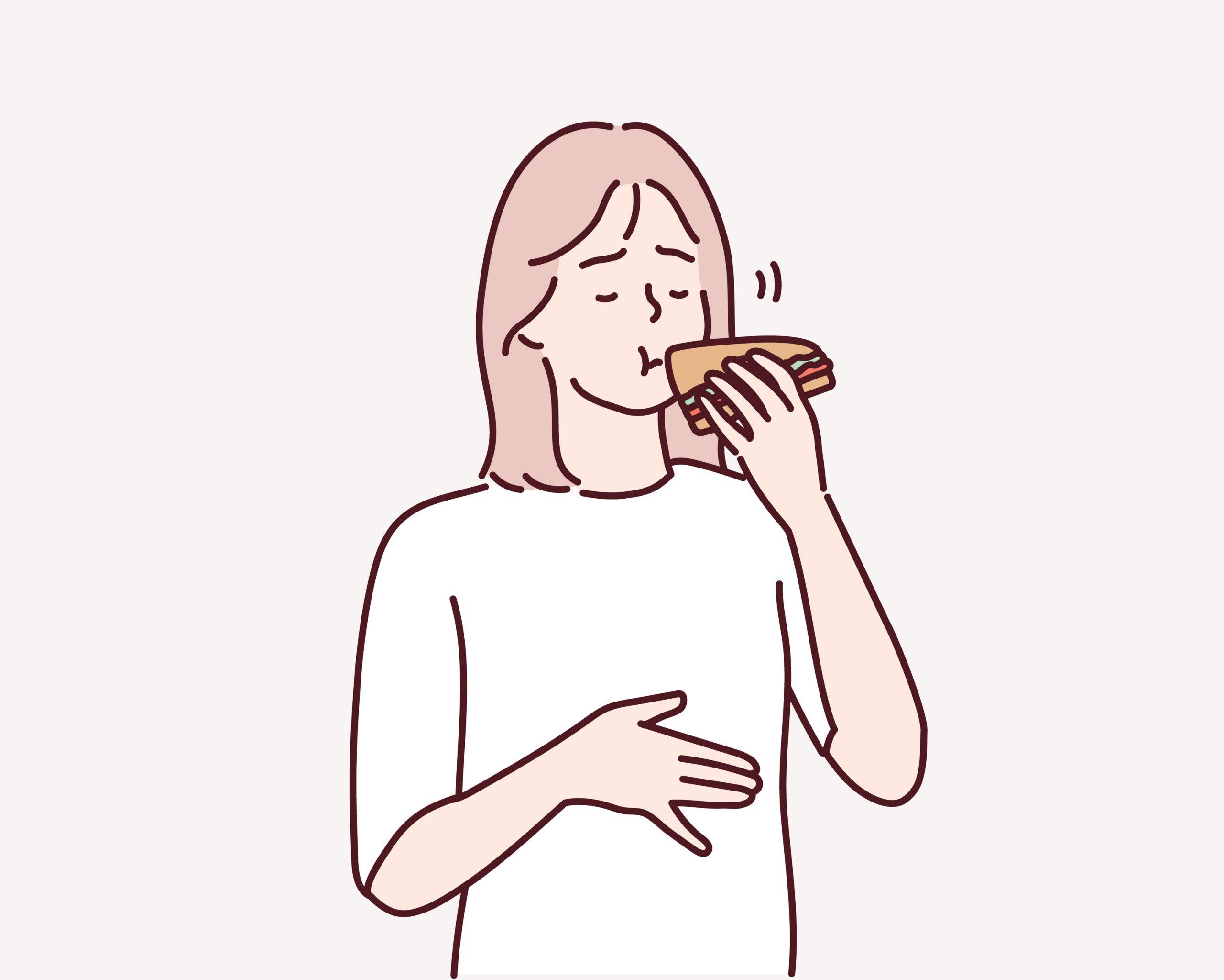 食欲が止まらない女性