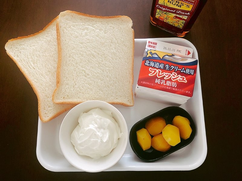 モンブラン風サンドイッチ材料