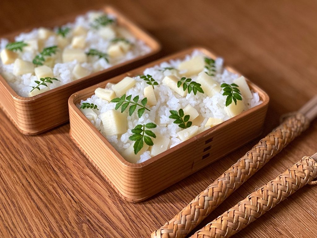 タケノコの炊き込みごはん弁当