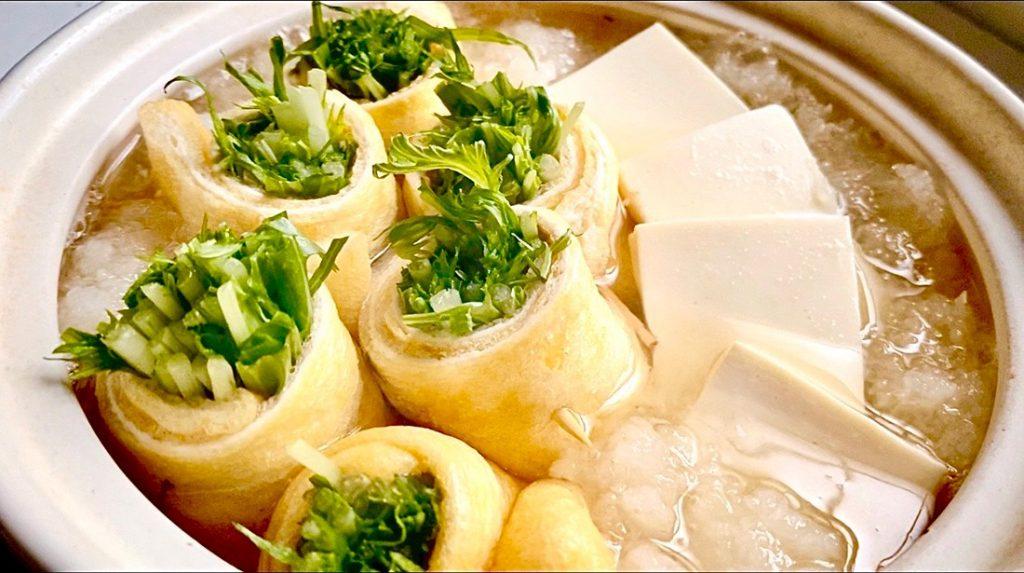 水菜の薄揚げ