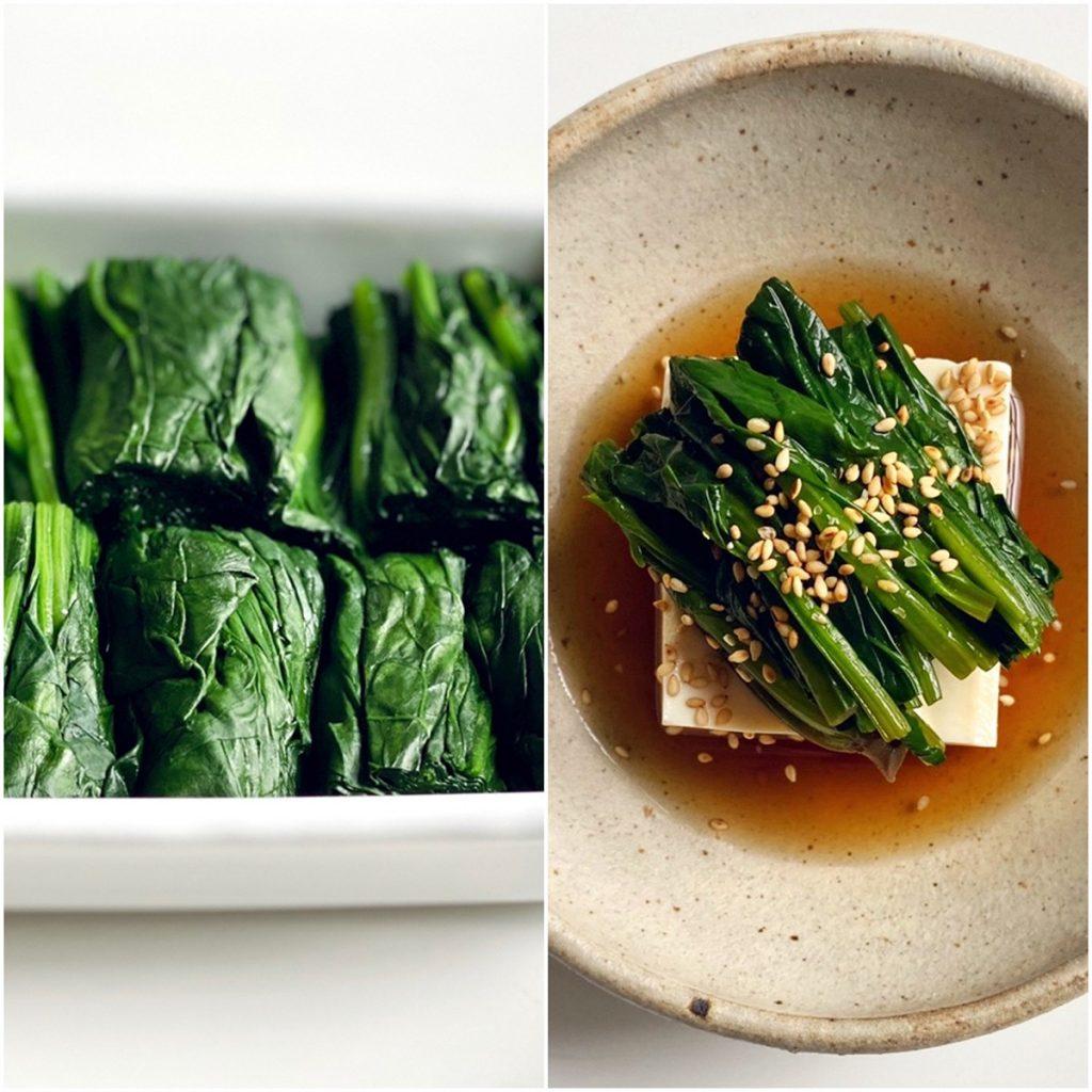 豆腐ほうれん草
