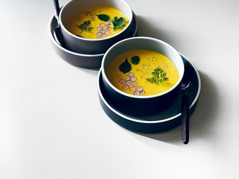 おめかしかぼちゃスープ