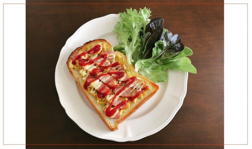 ホットドッグ風トースト