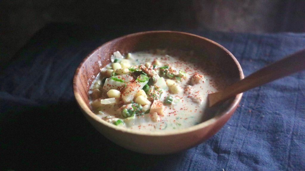 豆乳味噌スープ