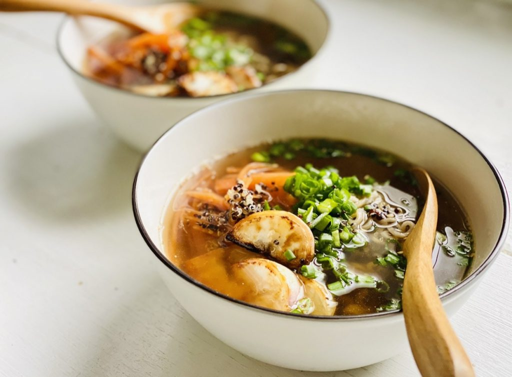 玄米麺スープ