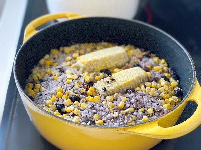 雑穀とうもろこし炊き上がり