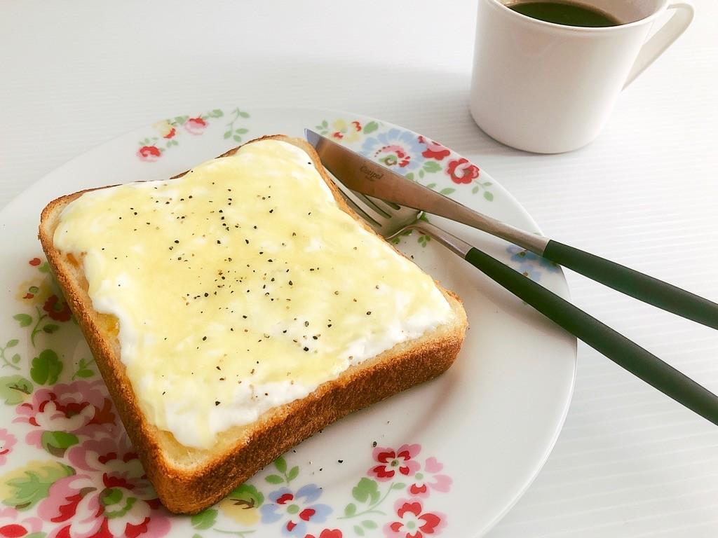 オレンジチーズケーキ風トースト