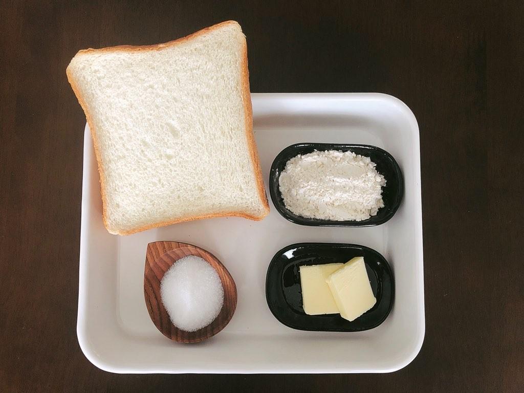 メロンパン風トースト材料