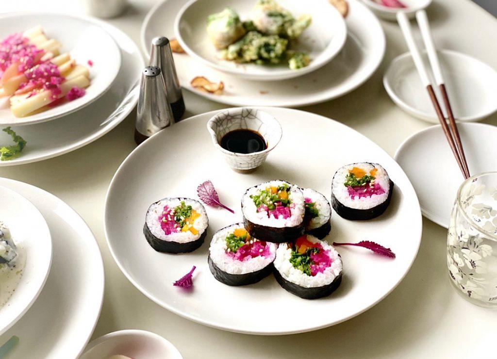 カラフル巻き寿司