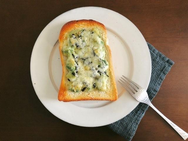 アボカドのりチーズトースト完成