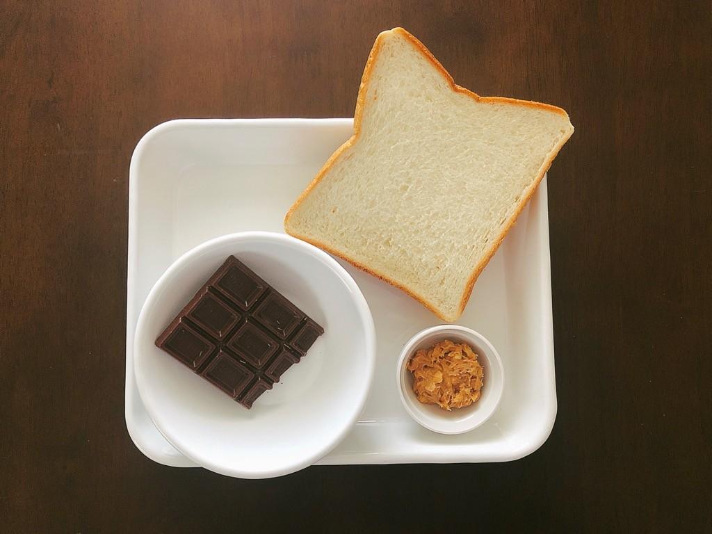 チョコピーナッツトースト材料