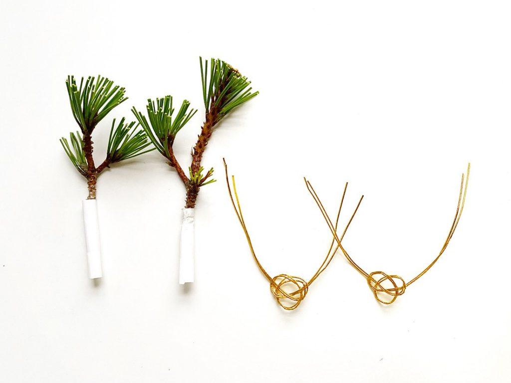 松の枝とあわじ結び