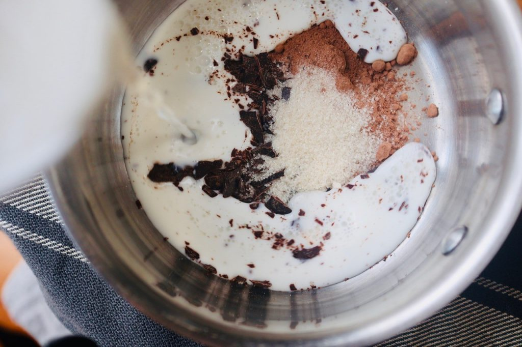 ホットチョコレート材料