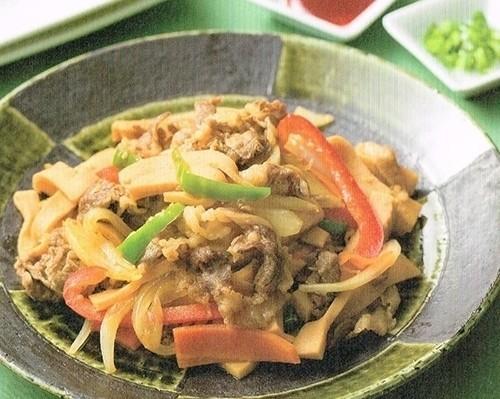 高野豆腐のプルコギ風
