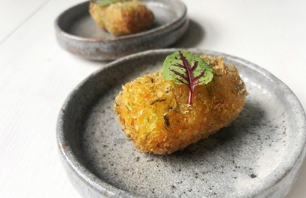 菊芋の磯辺コロッケ