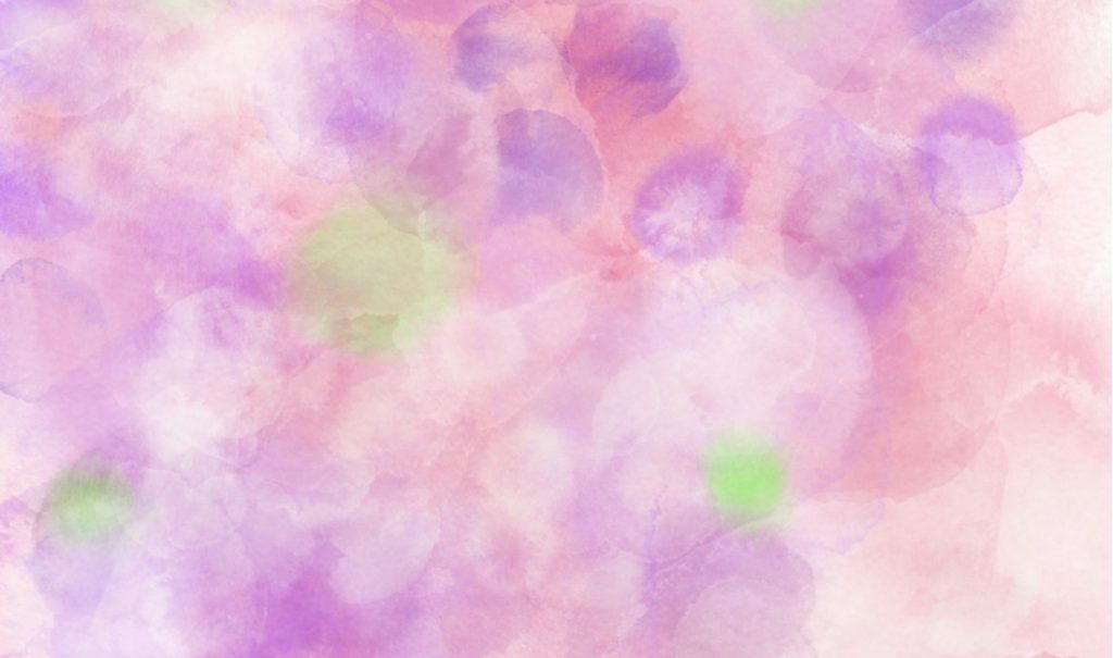 ピンクの水彩模様