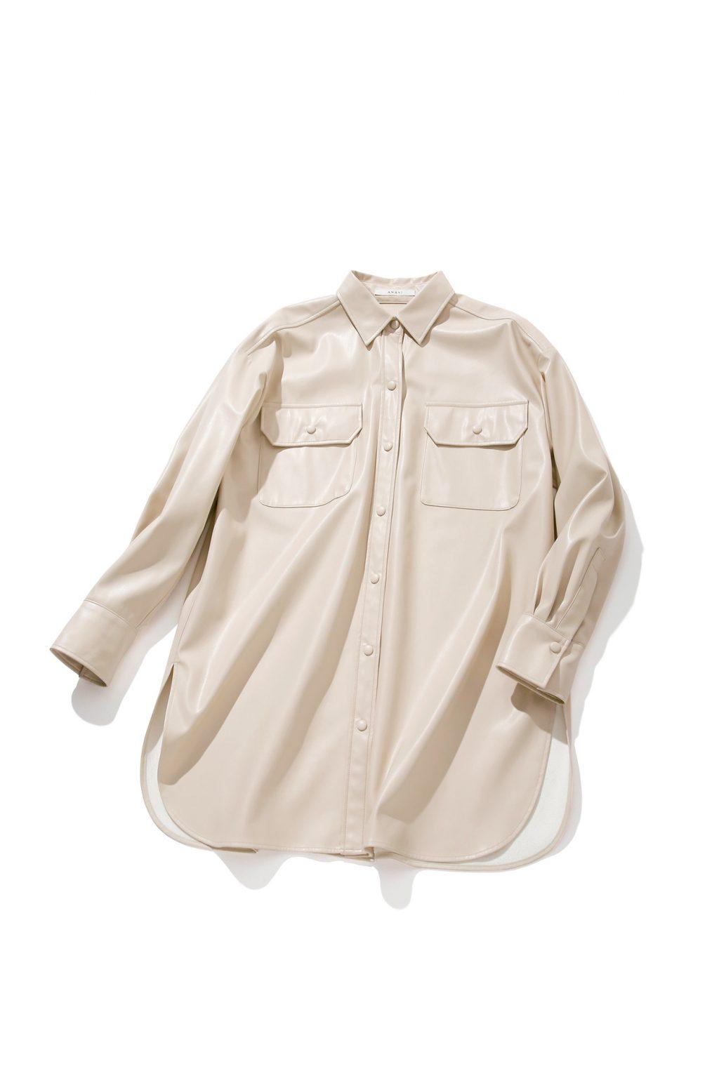 エコレザーのシャツ