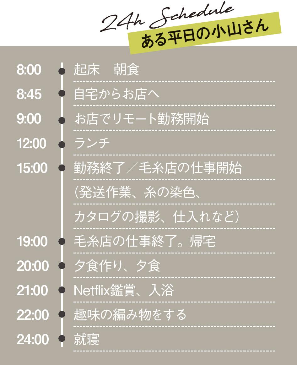 小山さんのスケジュール