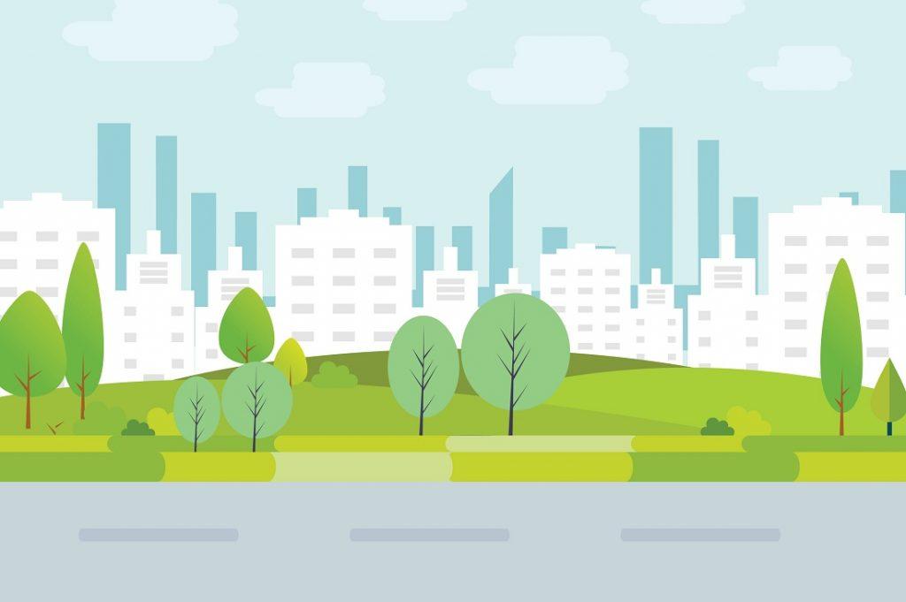 木と街のイメージ
