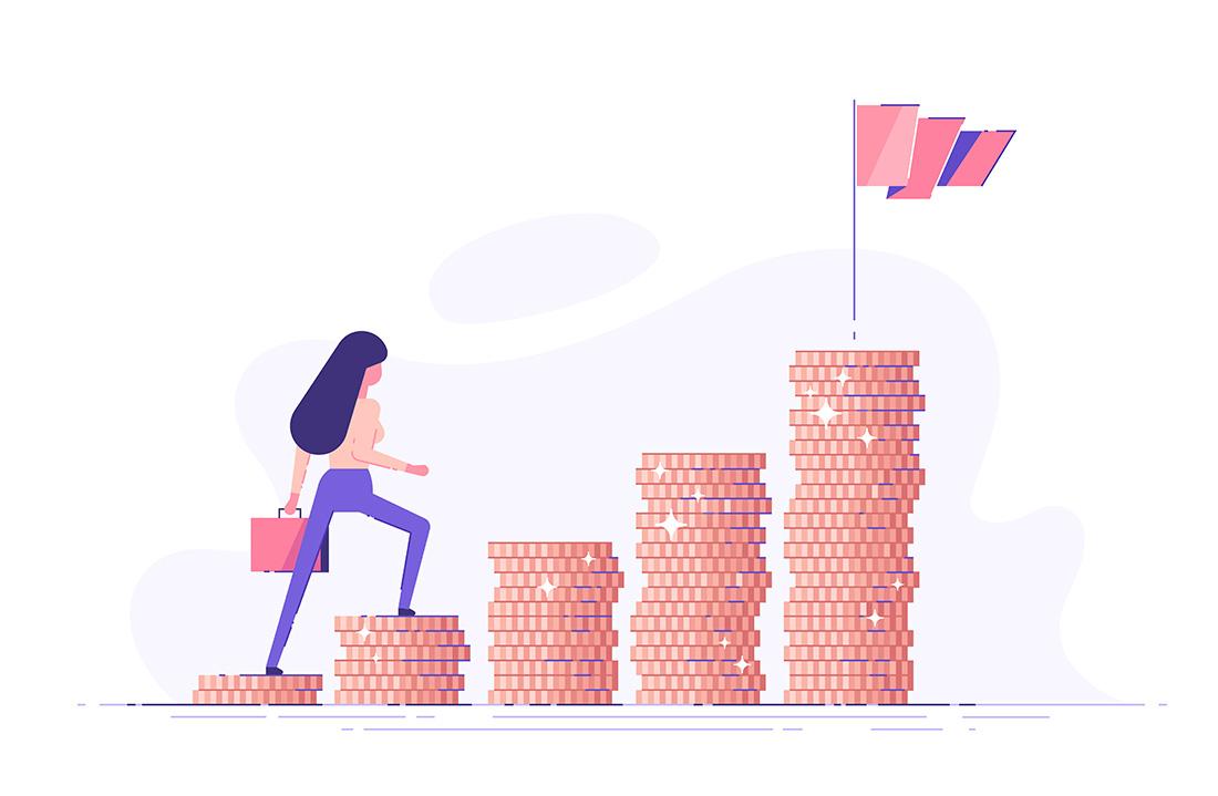 投資をする女性