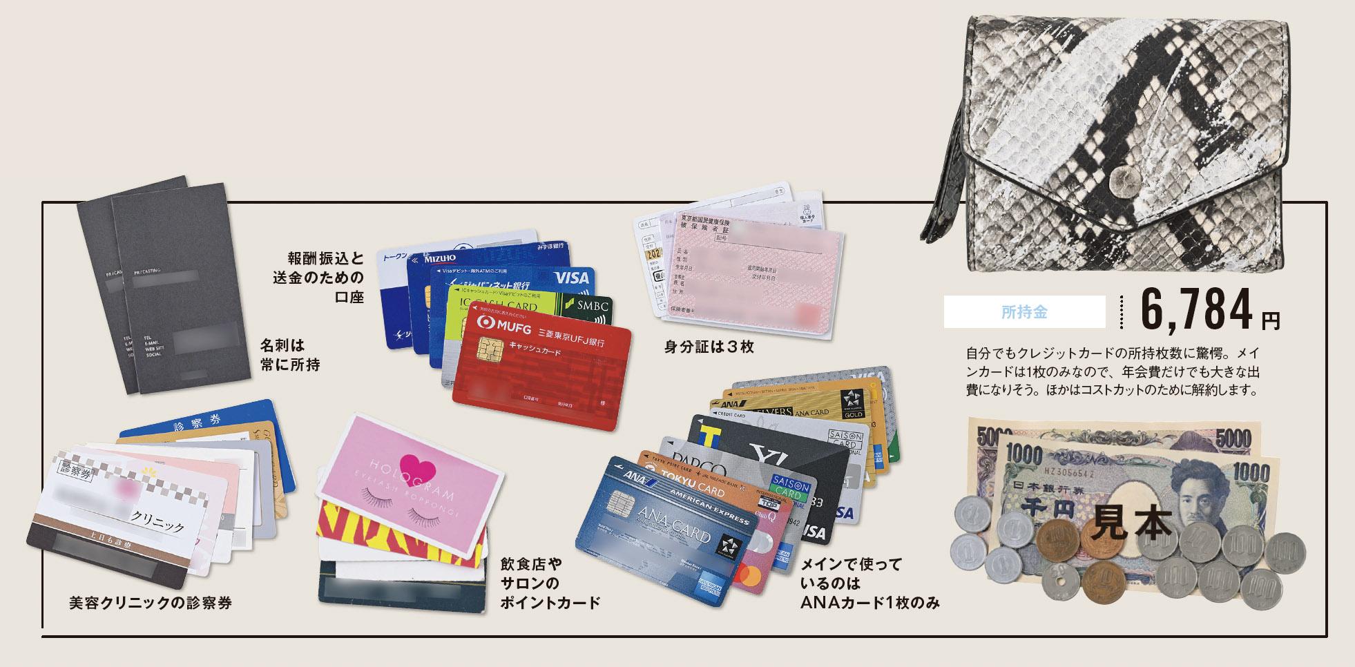 坂本さんのお財布の中身