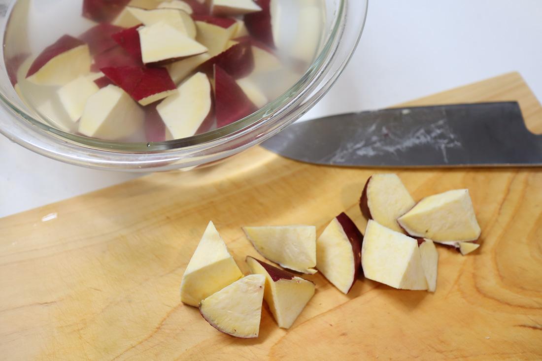 メープル大学芋の作り方
