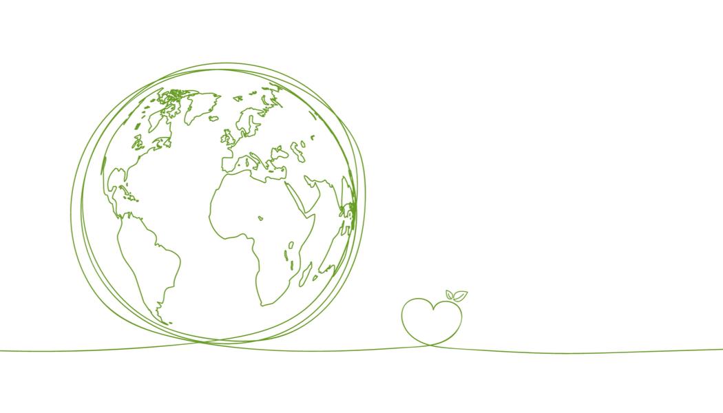 地球とハートのイラスト