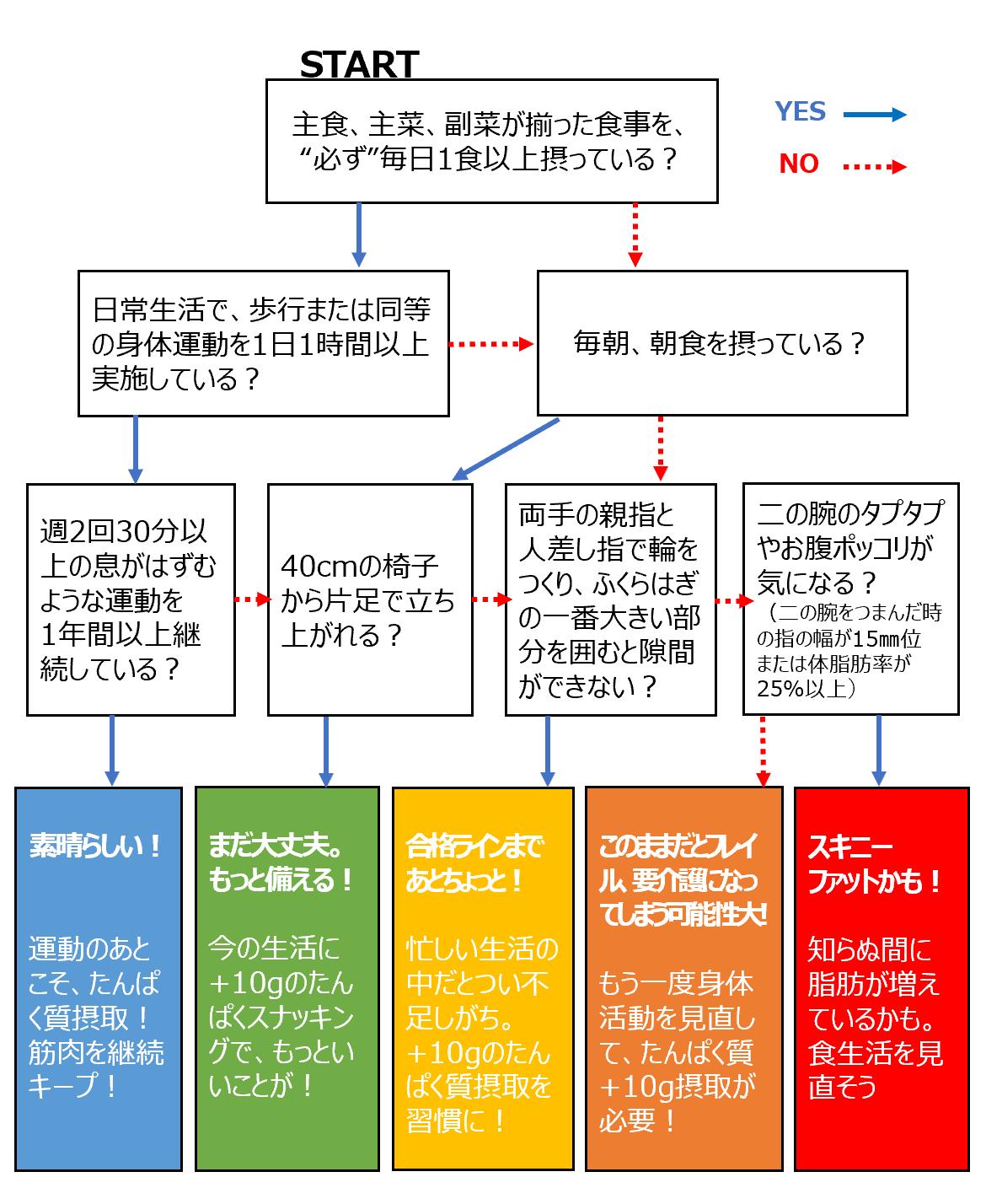スキニーファットチェック表